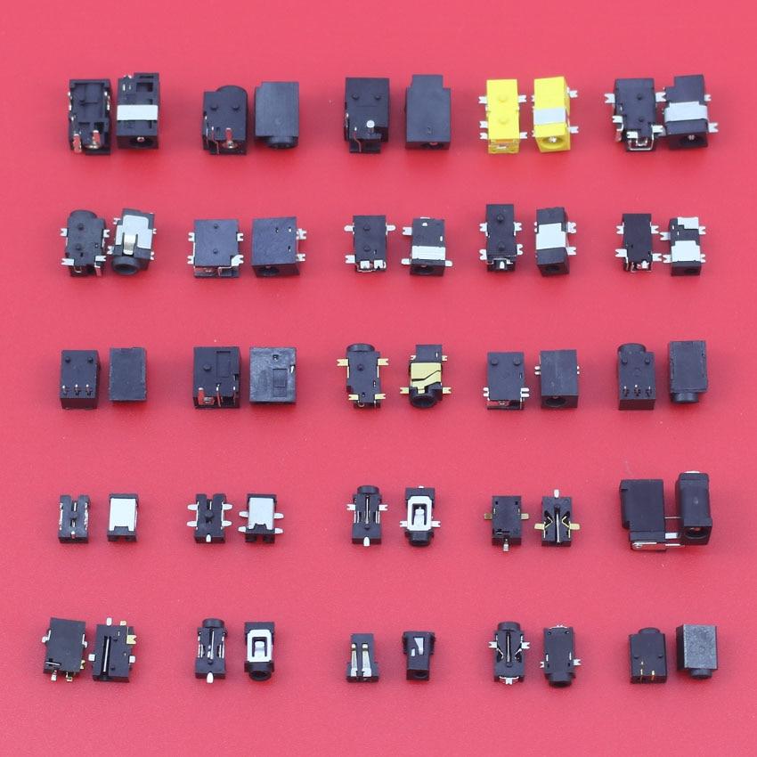 JCD 1 lot /25 Models /100pcs Widely Using Power DC Jack Connector, Socket for Laptop Tablet, Mini Pad 20 pcs dc jack tablet pc 0 7mm charging charge socket power connector for vido n101 n90s cube u23gt u18gt u9gt2