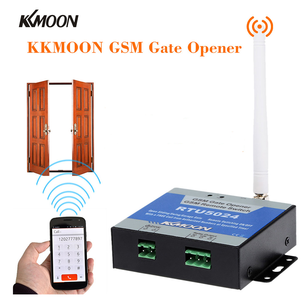 GSM Gate Opener Relay Switch Remote On/Off Switch Access Control Wireless Door Opener By Free Call SMS 850/900/1800MHz RTU5024 s140 direct factory gsm wireless remote switch app support turn relay on off by mobile phone text command sms controller