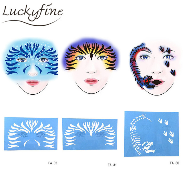 new soft reusable makeup template face paint stencil flower diy