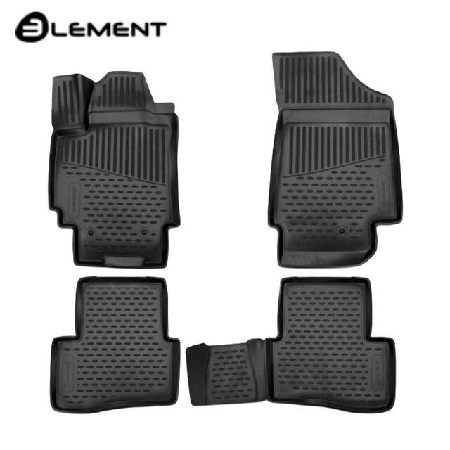 Для Hyundai Creta 2016-2019 Коврики 3D в салон 4 шт./компл. полиуретан Element ELEMENT3D2063210K
