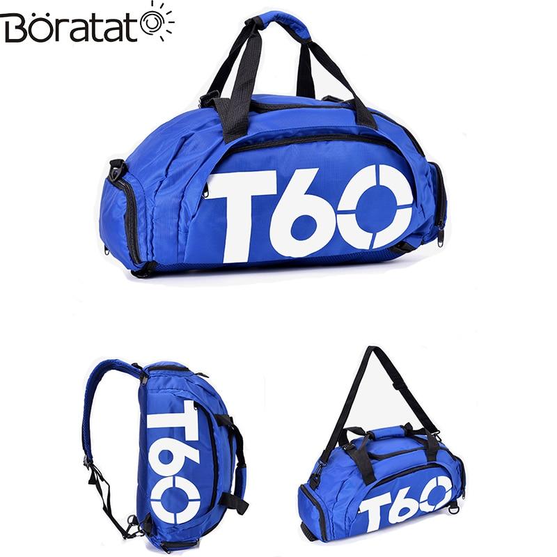 Men Sport Gym Bag Women Fitness Waterproof Outdoor Separate Space For Shoes Travel Handbag Backpack