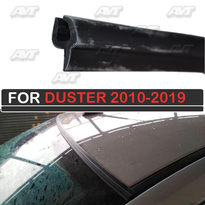 Windshield compactor for Renault Duster 2010-2019 rubber windshield deflector car styling decoration protect cover accessories