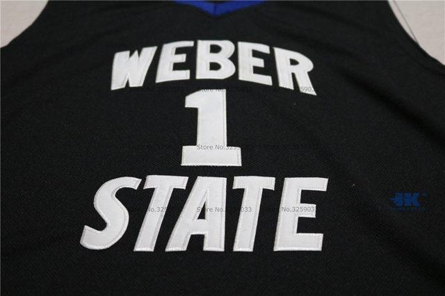 cheaper e890c 3344d Mens Damian Lillard Jersey #1 Weber State College Throwback Basketball  Jersey MAN Basket Uniforms Stitched Trikots Shirts