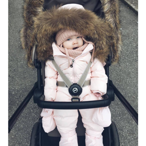 da968e379a2 Warm Duck Down Baby Winter Romper Suit Thick Cotton Climbing Clothes Fur  overall for Kid Girl