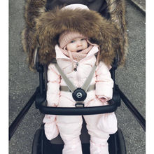 Теплый детский зимний комбинезон на утином пуху; костюм из плотного хлопка; одежда для альпинизма; меховой Комбинезон для маленьких девочек; детский зимний комбинезон; зимний комбинезон