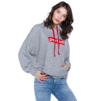 Hoodies & Sweatshirts Gloria Jeans for female GAC008500 Sweatshirt Hoodie bts Women clothes carmine