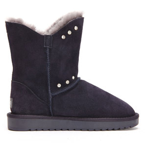 Image 2 - GOGC Fur Genuine Leather Winter Shoes Women Wool Crystal  Winter Boots Women Brand New Womens Boots for Winter Female Shoe 9843
