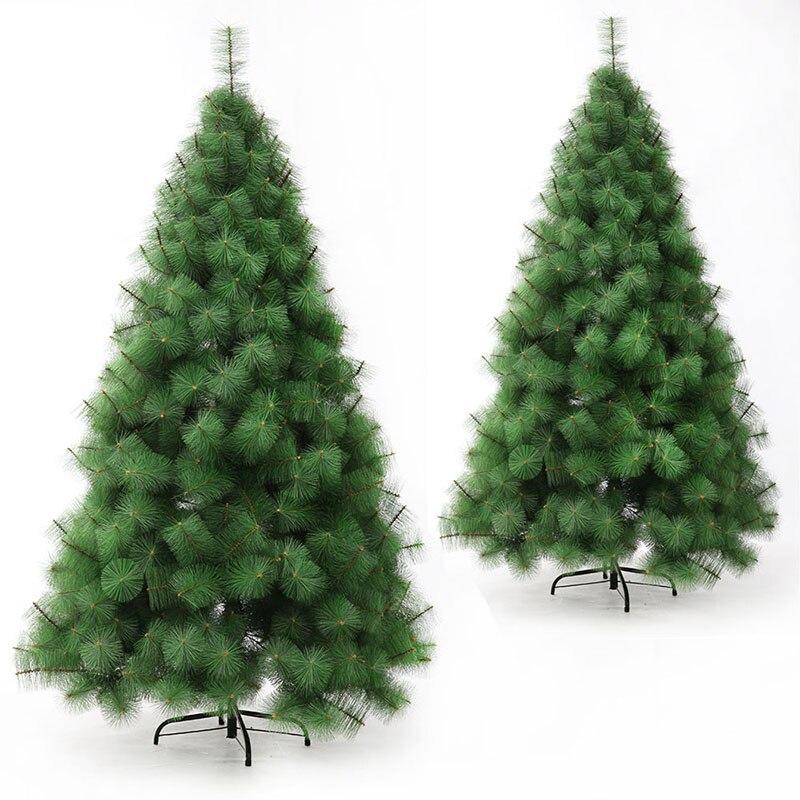 Aiguille de pin de haute qualité arbre de noël 1.5 m simulation aiguille de pin décorations de noël en PVC plante artificielle arbre de noël