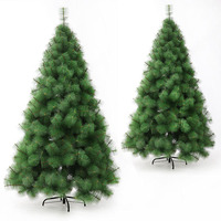 High grade pine needle Christmas tree 1.5 m simulation pine needle PVC Christmas decorations artificial plant Xmas Tree