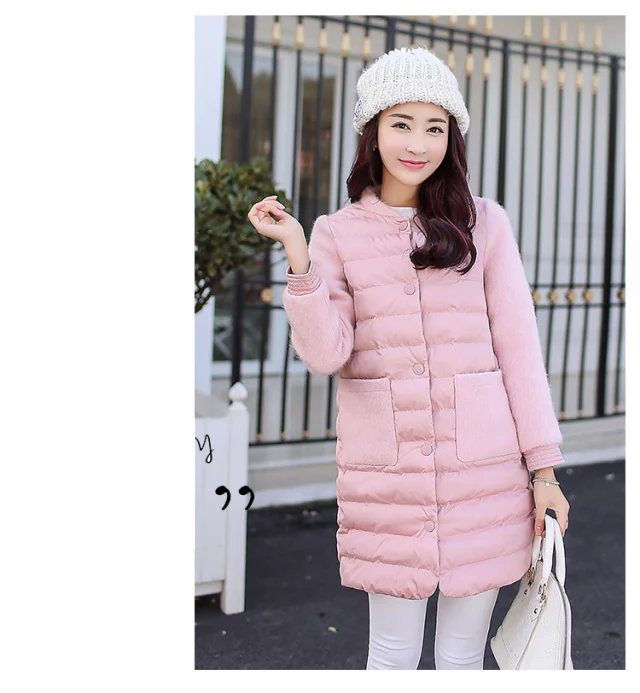Women's winter jacket high quality Long section Women outerwear Single-breasted warm Thick   Parka   female Overcoat