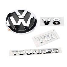 4 шт хромированный задний значок v8 tdi touareg эмблема для