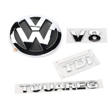 4pcs Chrome V8 TDI TOUAREG Rear Badge Boot Emblem for VW Touareg 2003-2010 7L6 853 630 A