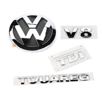 4pcs Chrome V8 TDI TOUAREG Rear Badge Boot Emblem for VW Touareg 2003 2010 7L6 853 630 A