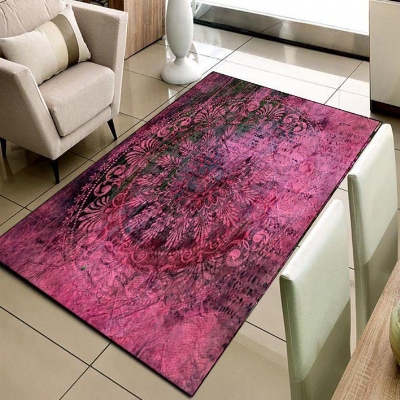 Autre prune turc Ottoman Design Vintage impression 3d antidérapant microfibre salon décoratif moderne lavable tapis tapis