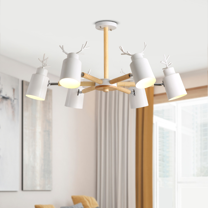 Modern LED Chandeliers Ceiling for Dining Room Living Room Bedroom Wood Indoor Lamp Lighting Fixture Design Home Decoration Iron modern led chandeliers ceiling for dining room living room bedroom home decoration iron wood indoor lamp lighting fixture design