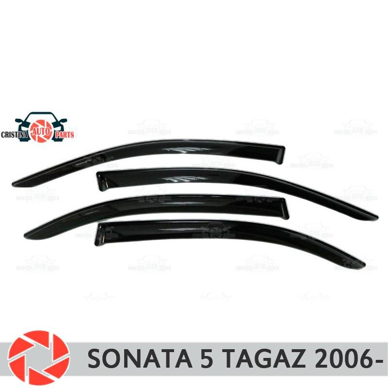Déflecteur de fenêtre pour Hyundai Sonata 5 Tagaz 2006-déflecteur de pluie protection contre la saleté accessoires de décoration de voiture moulage