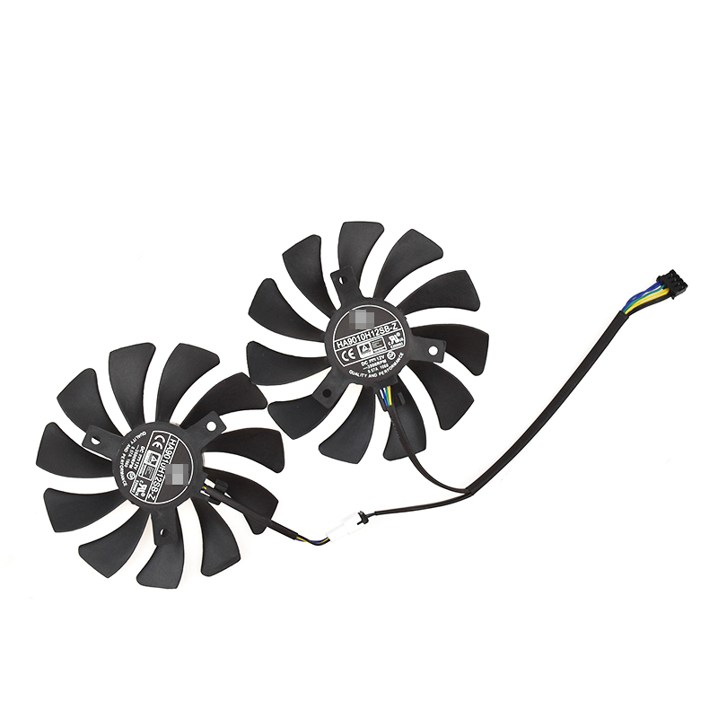85mm for MSI GTX1060 P106 Dual Fan Replacement 40mm 4Pin HA9010H12F-Z 12V 0.57A Processor Cooler Heatsink Fan image
