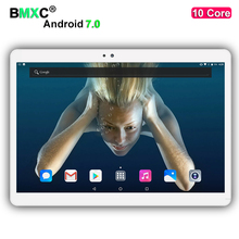 DHL free shipping tablets Android 7.0 10 Core 4GB RAM 128/64GB ROM Dual Camera and Dual SIM Tablet PC GPS 4G LTE bluetooth phone
