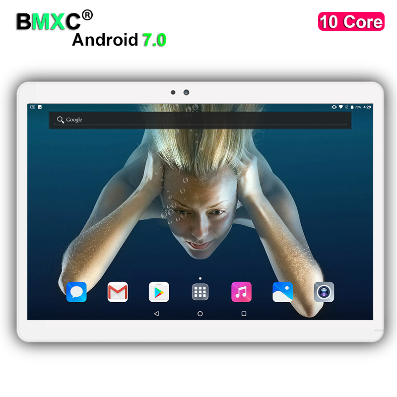 DHL free shipping tablets Android 7 0 10 Core 4GB RAM 128 64GB ROM Dual Camera