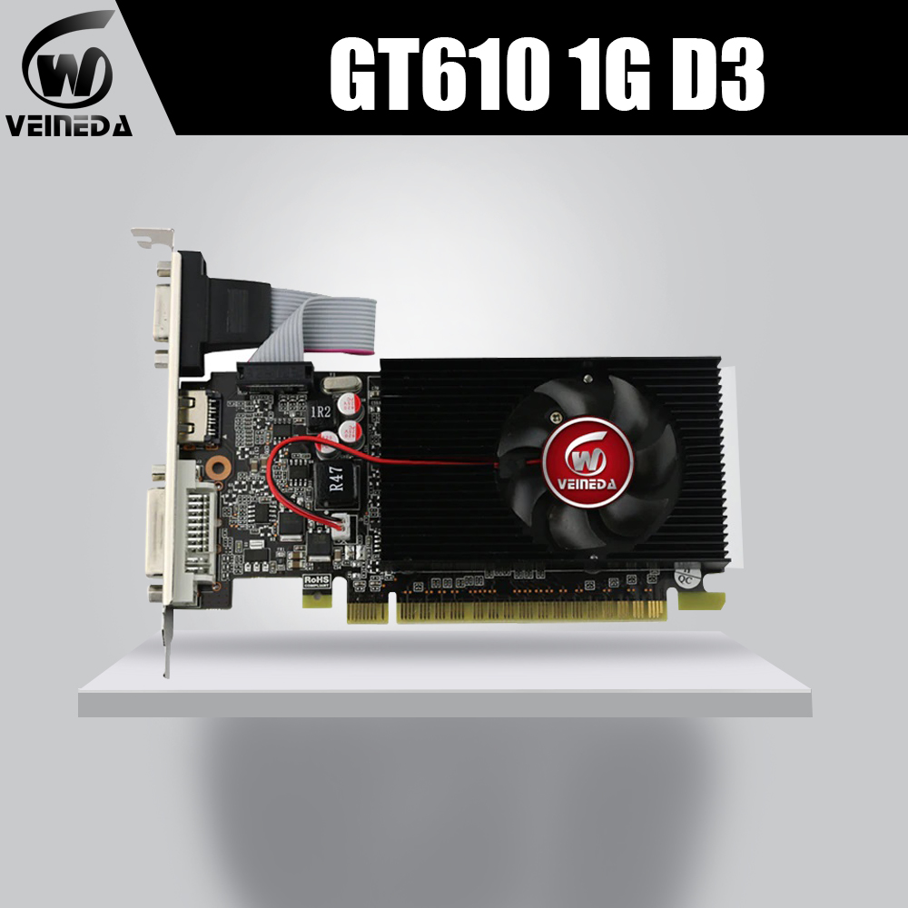 Video-Graphics-Card Nvidia DDR3 GT610 Dvicards Geforce Hdmi 1GB