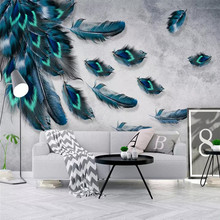 Fashion color feather texture background wall professional production mural wallpaper wholesale custom poster photo wall шорты спортивные under armour under armour un001embvda9