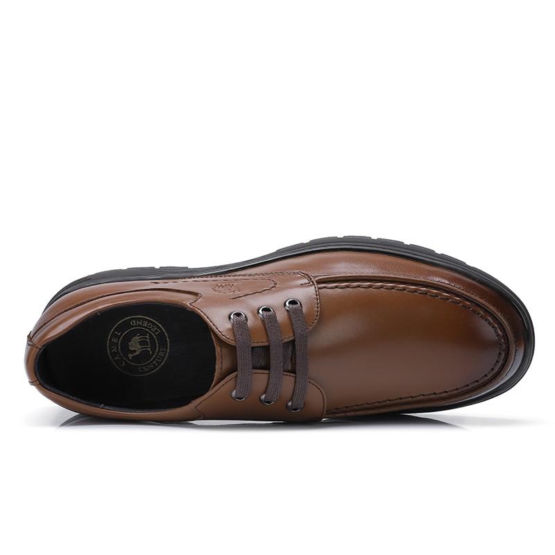Hiver Cuir Bureau D'affaires Non À slip Chameau Dentelle Automne Chaussures En L'usure Occasionnels chaussures Hommes a832005730brown Véritable Résistant up A832005730black BqxXA5v
