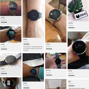 Image 5 - Rundoing q8 rosa versão relógio inteligente tela colorida oled rastreador de fitness monitor sono freqüência cardíaca pressão arterial smartwatch