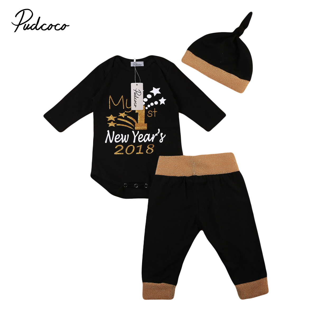 Pudcoco New Christmas Baby Suit Toddler Baby Boy Girls Letter Romper Infant Girls Sequin ...