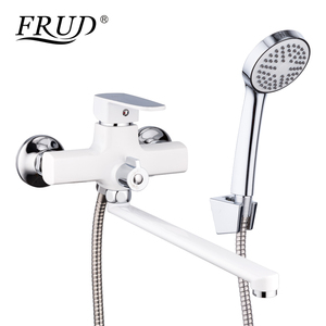 Image 3 - FRUD New Bathroom Shower Faucets set Colorful Bathtub Tap Wall Mounted Tap With Hand Shower Head robinet R22301/R22302/R22303