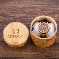 2019 Mens Watches Top Brand Luxury Women Watch Wood UWOOD 1007 Unique Handmade Walnut Wood Watch Men's Wooden Fashion Watches