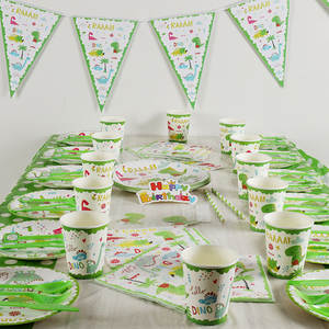 ZXZ Paper Plate Cup Napkins Birthday Event Party Supplies