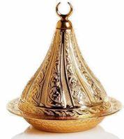 터키 고급 설탕 그릇 copperplate 정통 선물 lokumluk 터키어 기쁨
