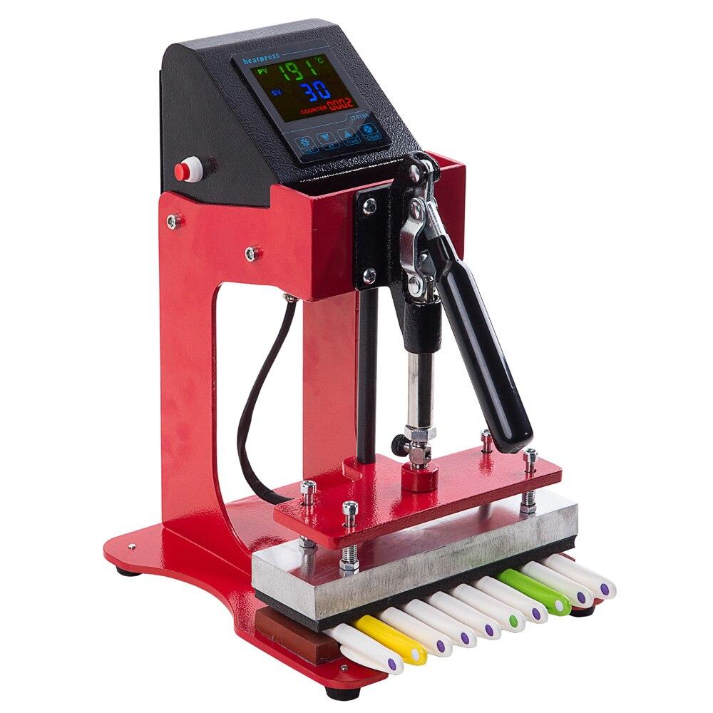 Mini heat press New 10 in 1 Small Plastic Ball Pen Making LOGO Printing Pen Heat