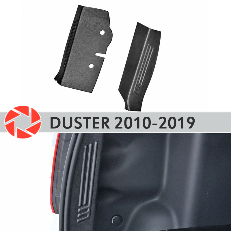 Protection plate inner trunk for Renault Duster 2010-2018 side covers in the trunk accessories protection car styling decoration radiator side covers for ducati monster 696 795 796 full carbon fiber 100