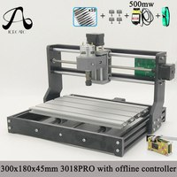 Diy mini cnc machine,3 Axis pcb Milling machine,Wood Router laser engraving,with offline controller