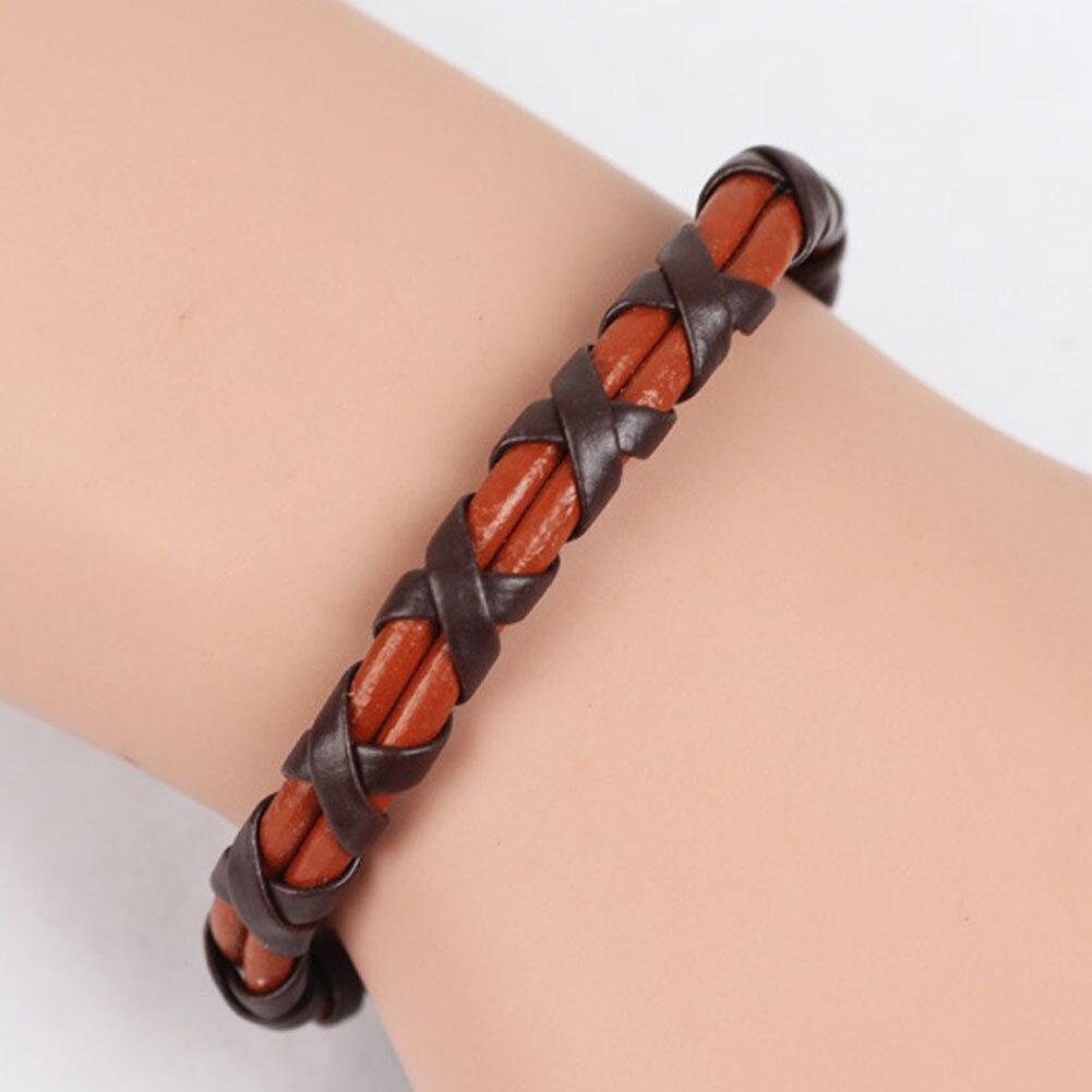 Fashion Casual Style Braided Leather Cord Bracelet Punk Rock Stylish Black Brown Jewelry