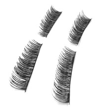 4 Pcs /Pair Reusable Soft 3D Magnetic False Eyelashes Handmade Thick Long Makeup Double Magnet Eye Lashes Extension Tools