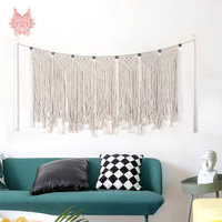 Farmhouse decor bohemian wall hanging tapestry cotton handmade weaving hollow out tassel tapisserie murale tapiz pared SP5615