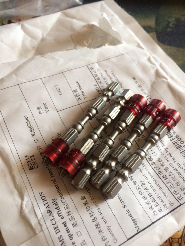 siwetg 5 Unids 65mm Antideslizante Destornillador Magn/ético Hexagonal El/éctrico S2 PH2 Herramienta De Broca De Cabeza /Única