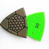 3 Inch Triangle Diamond dry Polishing Pads marble granite concrete terrazzo for Oscillating Multi Tools Set of 7