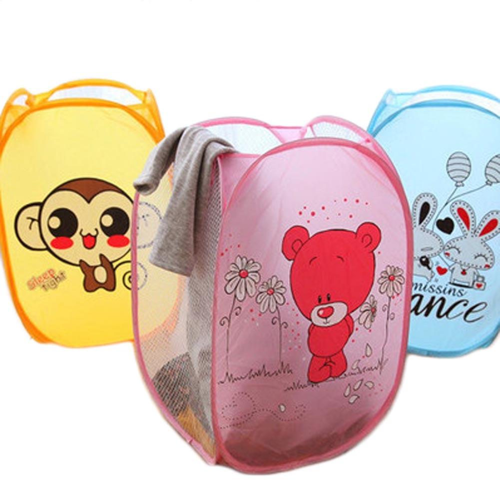 Cute Animal Collapsible Toy Storage Organizer Folding: Cute Animals Folding Dirty Clothing Laundry Bucket Storage