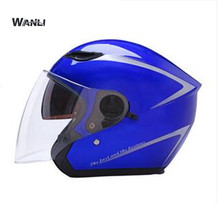 Motorcycle Scooter Open Face Half Helmet double Visor UV Goggles Retro Vintage Style for Security Accessories men women
