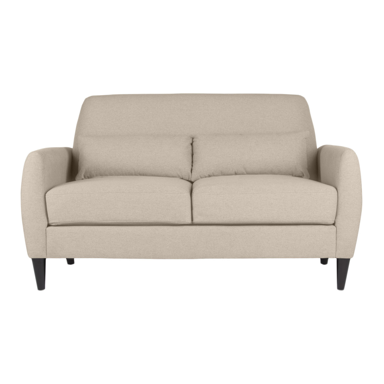 Offex Home Office Allure Loveseat - Sand offex home office plinth ottoman dark taupe