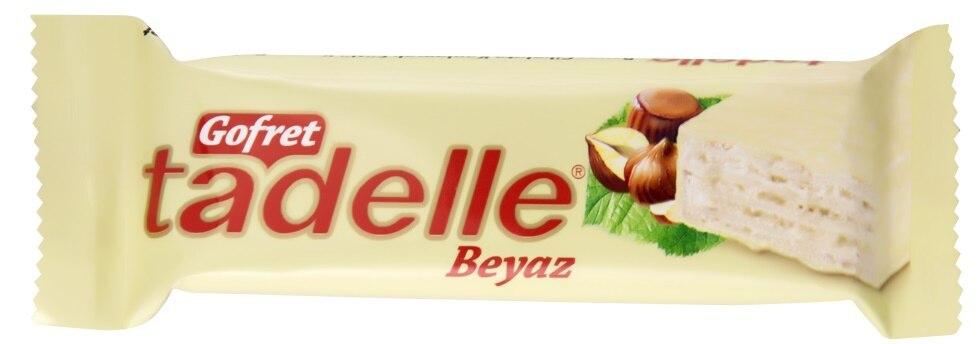 Sagra Chocolate Xmas Gift Halal Tadelle Wafer White Chocolate 35 Gr (24 Piece)()
