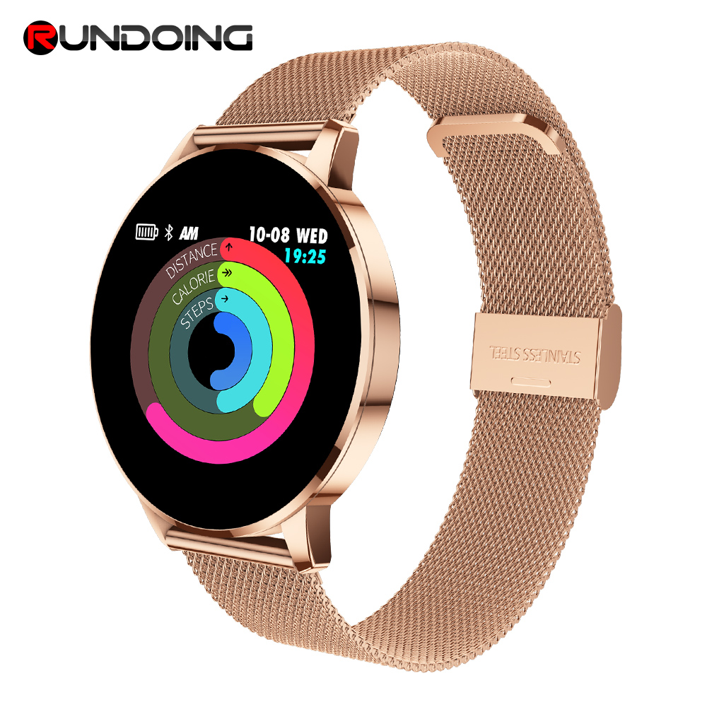 Rundoing Q8 Advanced 1.3 inch color screen fitness tracker smart watch heart rate monitor smartwatch men fashion PK V11 colmi v11 smart watch ip67 waterproof tempered glass activity fitness tracker heart rate monitor brim men women smartwatch