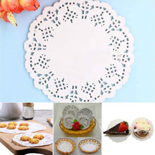 100Pcs Placemat Round Lace Paper Doilies Wedding Birthday Prom Party Cake Doilies Home Table Mats Cute Craft Cake DIY Decor 14cm кружево для шитья diy lace garden 7 14cm lt048 diy embroiered