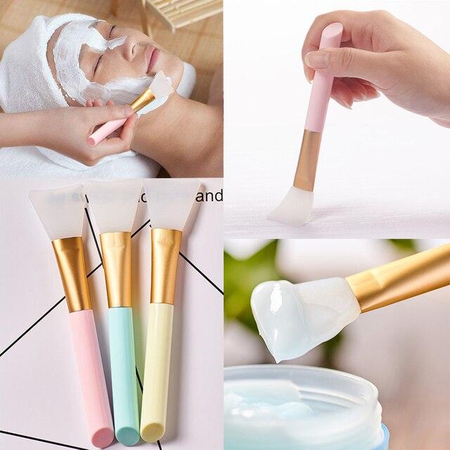 Dropshipping 3 colores máscara Facial brocha de maquillaje de silicona suave cepillo de cuidado de la piel de las mujeres para el cuidado de la cara de las niñas herramientas cosméticas