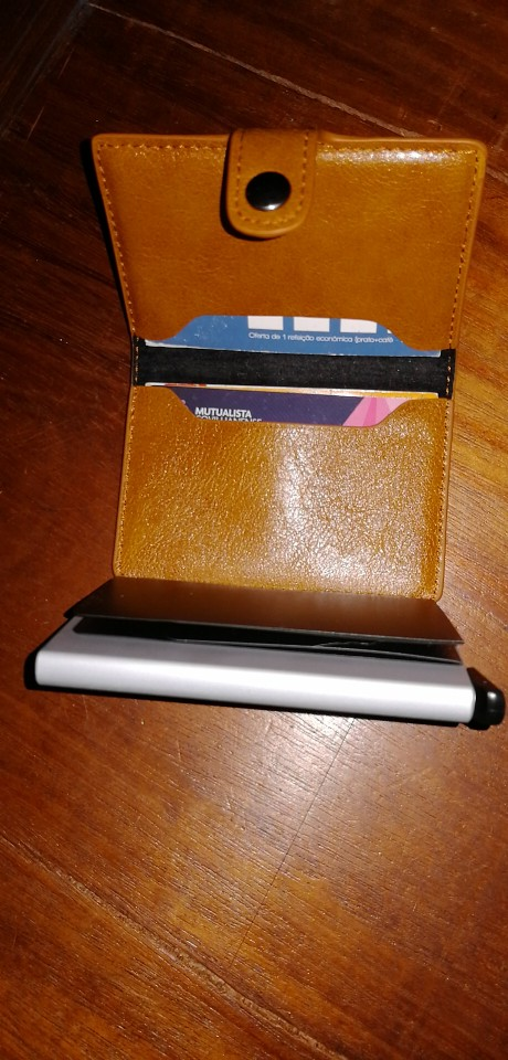 Bycobecy Business Card Holder RFID Metal Wallet Antitheft Wallets Automatic Pop Up Card Case Aluminium Alloy Credit Card Case photo review