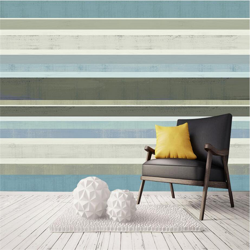 Vintage Custom Wallpaper Striped Murals Navy Style Non-Woven Wallpapers Theme Cafe TV Wall Wallpapers for Living Room Home Decor shinehome sunflower bloom retro wallpaper for 3d rooms walls wallpapers for 3 d living room home wall paper murals mural roll