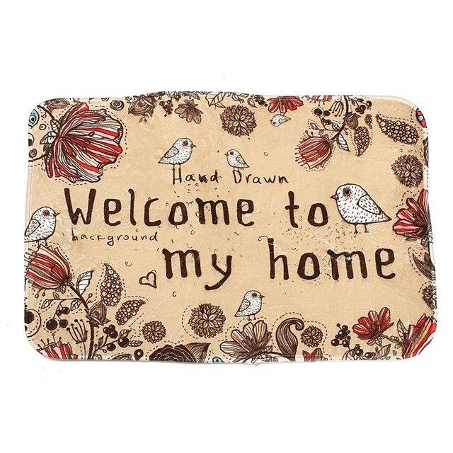 HOT!!! Tür Matte Vintage Fußmatte Teppiche Tapete tapis Willkommen Teppiche Badematten Teppichboden Küche Bad Teppich Eingangsmatten in HOT!!! Tür ...